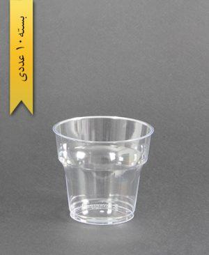 لیوان آرین - 180cc - شفاف - طب پلاستیک