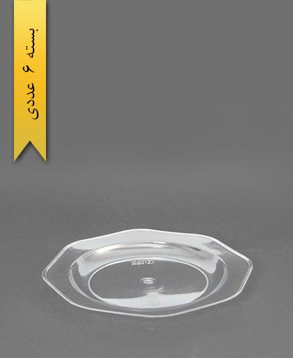 بشقاب کریستال بیرنگ شفاف - طب پلاستیک