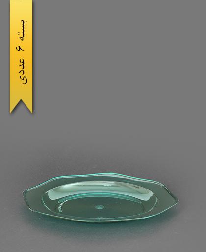 بشقاب کریستال سبز شفاف - طب پلاستیک
