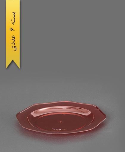 بشقاب کریستال قرمز شفاف - طب پلاستیک