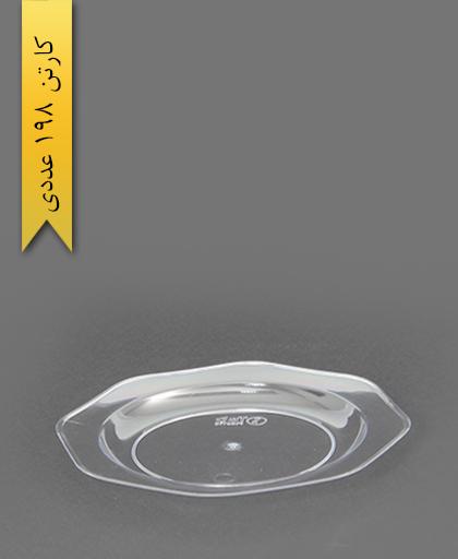 پیش دستی کریستال بیرنگ شفاف - طب پلاستیک