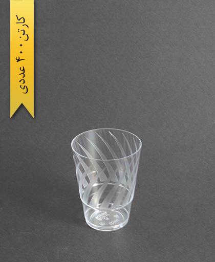 لیوان اسپشیال طرحدار شفاف 220cc-کوشا