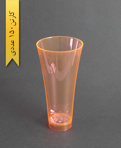 لیوان نایس رنگی450cc- نارنجی-کوشا