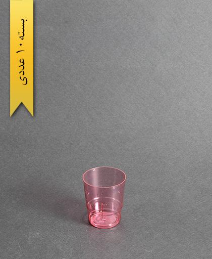 لیوان مینی رنگی-50cc- قرمز-کوشا