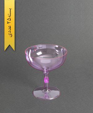 جام روژین رنگی300cc- بنفش-کوشا