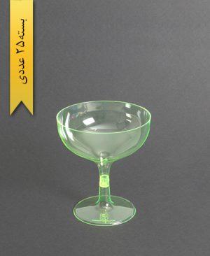 جام روژین رنگی300cc- سبز-کوشا