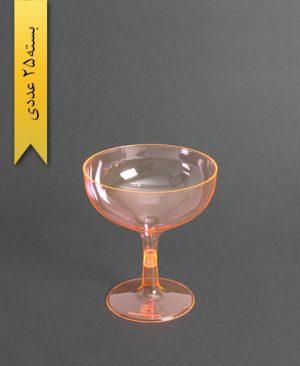 جام روژین رنگی300cc- نارنجی-کوشا