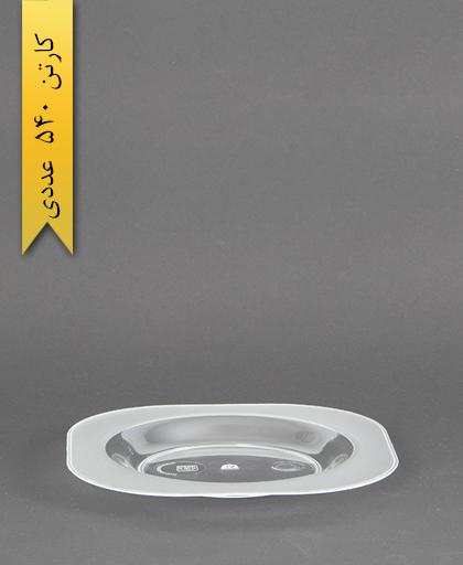 بشقاب چهارگوش دسری شفاف -کوشا