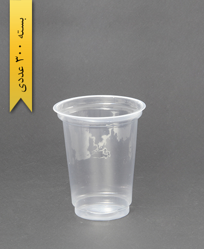 لیوان شفاف 400cc - pp - احدی