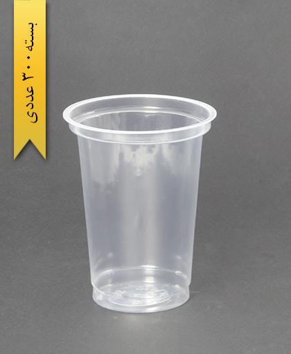 لیوان شفاف-400cc-pp-جام پلاستیک