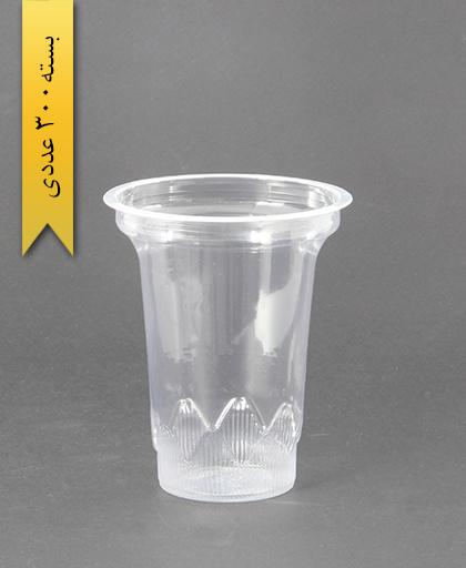 لیوان شفاف 350cc - pp - عسل پلاست