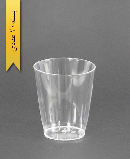 لیوان کریستال-200cc- صنایع پلاستیک خوزستان
