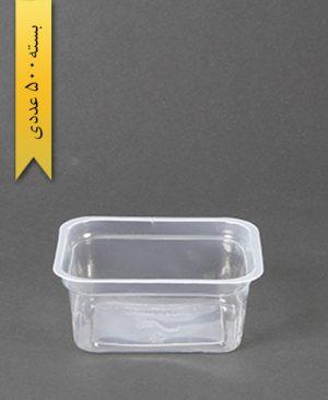 پیاله چهارگوش عسلی بلند pp - پیاله یکبار مصرف احدی