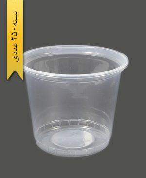 سطل ماستی شفاف 1700cc pp -احدی
