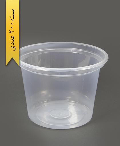 سطل ماستی شفاف 2700cc pp -احدی