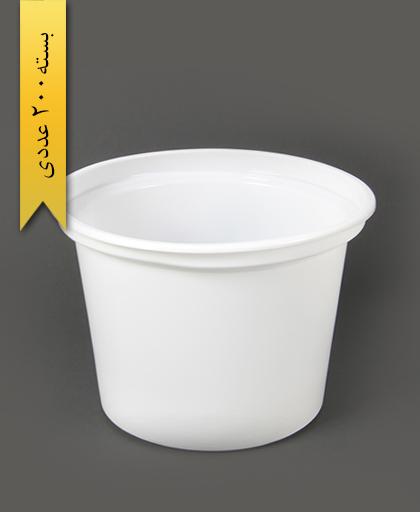سطل ماستی شیری 2700cc pp -احدی