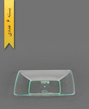 بشقاب کیک خوری چهارگوش سبز - کوشا