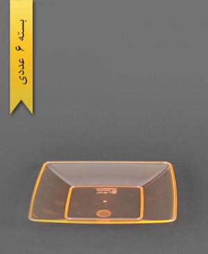 بشقاب کیک خوری چهارگوش نارنجی - کوشا