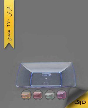 بشقاب کیک خوری چهارگوش رنگی - کوشا