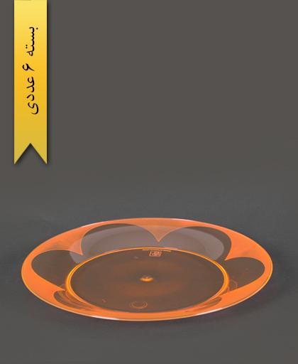 بشقاب غذاخوری گرد نارنجی - کوشا