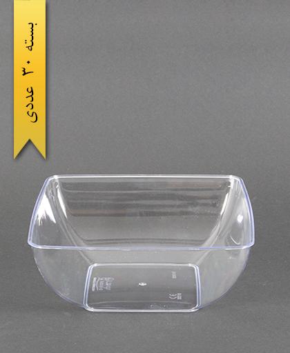 پیاله چهارگوش لوکس 1200 شفاف - کوشا