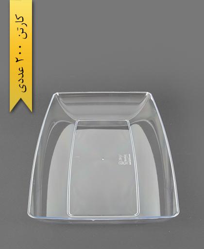 دیس چهارگوش لوکس بزرگ شفاف -کوشا