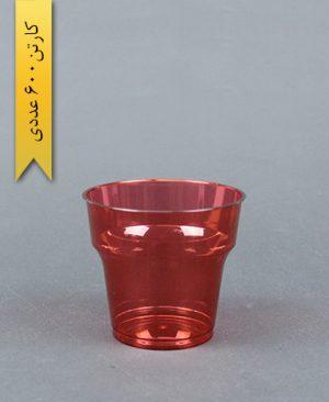 لیوان آرین 180cc قرمز - طب پلاستیک