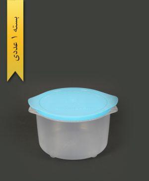 ظرف مایکروویو گرد بزرگ آبی - کوشا