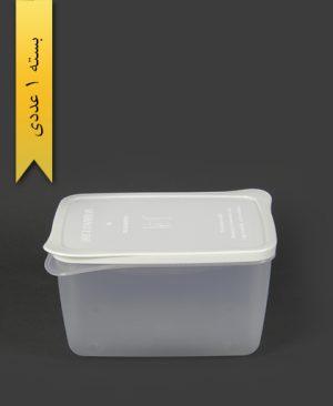 ظرف مایکروویو مستطیل بزرگ سفید - کوشا