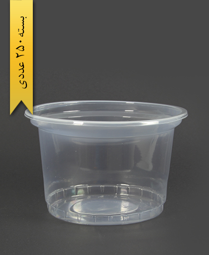 سطل ماستی شفاف 1300cc -احدی