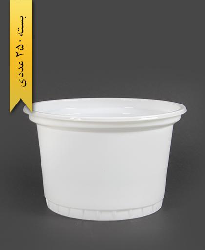 سطل ماستی شیری 1300cc -احدی