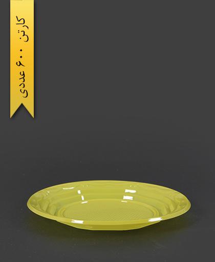 بشقاب رنگی pet - ظروف یکبار مصرف آذران ورق