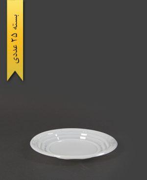 پیش دستی سفید pet - ظروف یکبار مصرف آذران ورق
