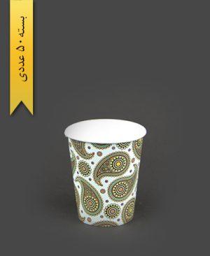 لیوان کاغذی گلاسه طرح 3 - بلوط سبز