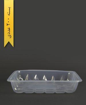 جاگوشتی کوتاه شفاف - ظروف یکبار مصرف تاب فرم