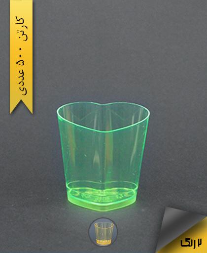 لیوان قلبی 120cc رنگی - یونسی پلاست