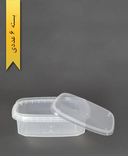 ظرف مایکروویو 600 L - طب پلاستیک