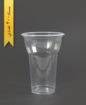 لیوان 350cc شفاف طرحدار - تک ظرف