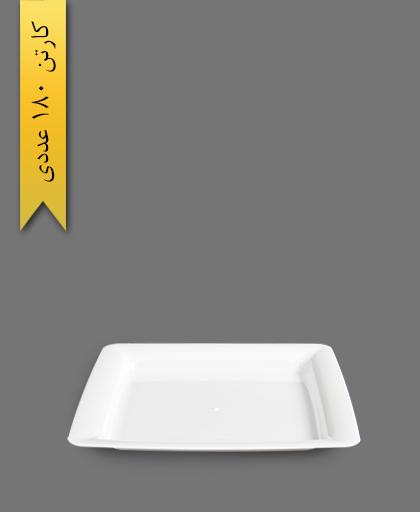 پیش دستی دیپلمات سفید - ظروف یکبار مصرف طب پلاستیک