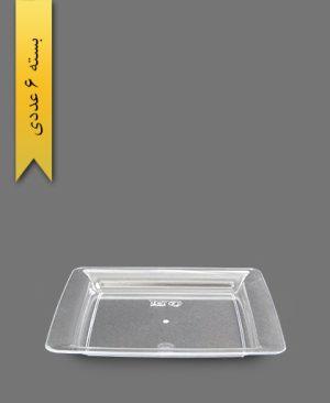 پیش دستی دیپلمات شفاف - ظروف یکبار مصرف طب پلاستیک