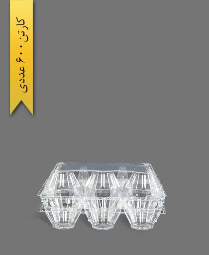 شانه تخم مرغ 6 خانه - ظروف یکبار مصرف آذران ورق