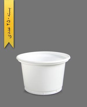 سطل ماستی 1300 شیری - ظروف یکبار مصرف آیاتای