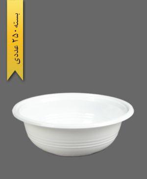 کاسه 750 شیری - ظروف یکبار مصرف تمیزی