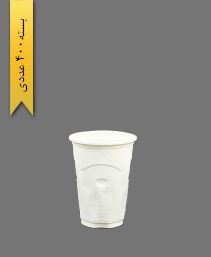 لیوان گیاهی 250cc - ظرف گیاهی یکبار مصرف آملون