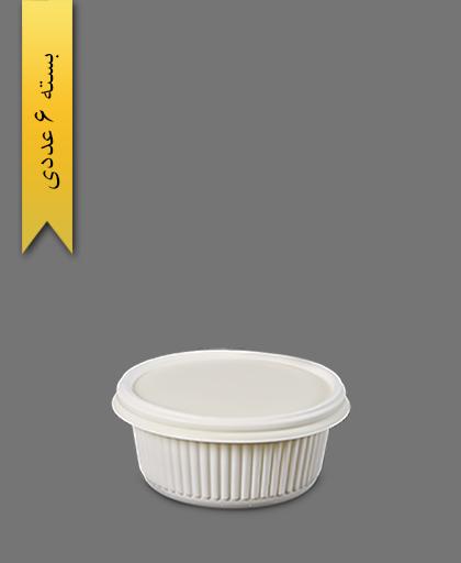 کاسه خورشتی 550 با درب - ظروف گیاهی یکبار مصرف آملون