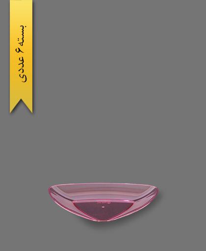 بشقاب کیک خوری قرمز سه گوش - ظروف یکبار مصرف کوشا