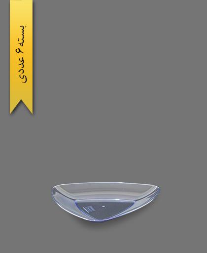 بشقاب کیک خوری آبی سه گوش - ظروف یکبار مصرف کوشا