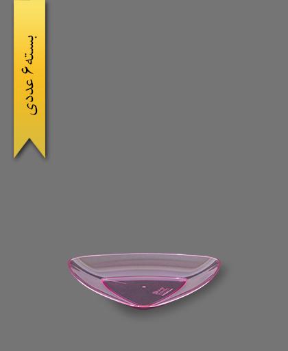 بشقاب کیک خوری بنفش سه گوش - ظروف یکبار مصرف کوشا