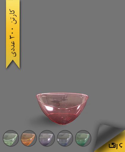 پیاله سه گوش رنگی 350 لونا - ظروف یکبار مصرف کوشا