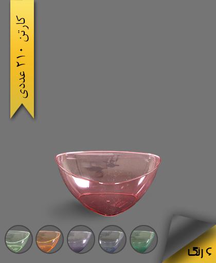 پیاله سه گوش رنگی 650 لونا - ظروف یکبار مصرف کوشا